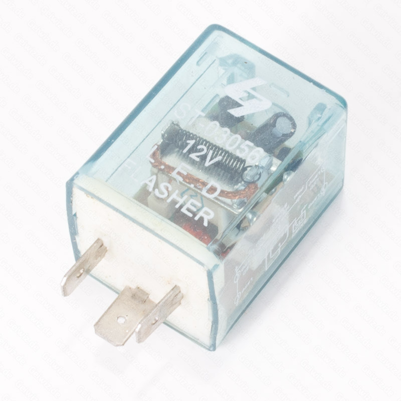 blinkrelais 12v 3 polig elektronisch led. Black Bedroom Furniture Sets. Home Design Ideas