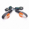 RMS Mini LED Blinker Set Arrow carbon E geprüft - inkl. Widerstand